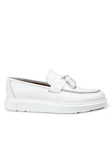 Deery Hakiki Deri Ayakkabı Beyaz
